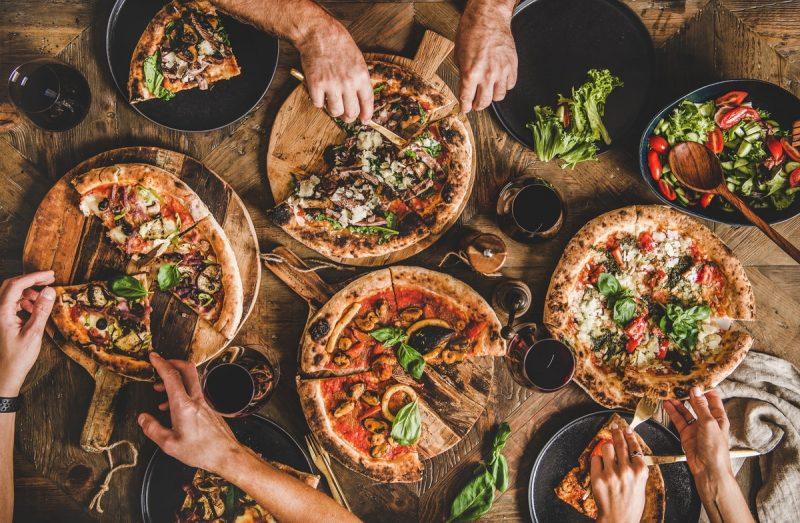 Pizza d'un fast food