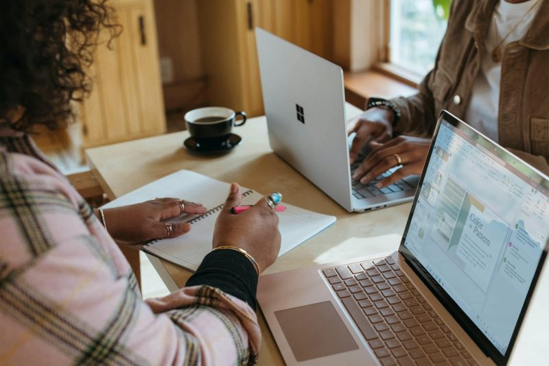 person using a Surface device
