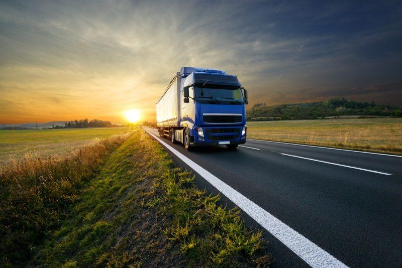 Véhicule d'une entreprise de transport routier