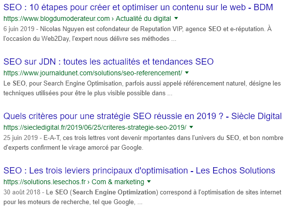 Balises Méta Serp Google