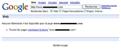 Google Blackliste